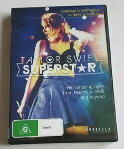 Taylor Swift Superstar  -  PAL DVD Region 4 - NEW SEALED