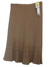 MARKS & SPENCER Ladies Camel Two Way Stretch Skirt Size UK 16 BNWT