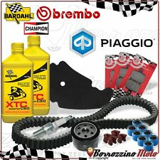 PACK ENTRETIEN PLAQUETTES FILTRE BOUGIE COURROIE PIAGGIO BEVERLY 500 2007