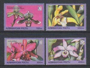Azerbaijan - 1995, Singapore Stamp Exhibition, Orchids set - MNH - SG 261/4