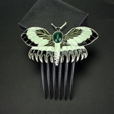 """Rose's Hair slide"" TITANIC Antique Reproduction BUTTERFLY Hair Clip Comb Enamel"