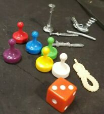 Clue Board Game 6 Tokens & 6 Weapoms Replacement Pieces Pawn 1 die 1996 set