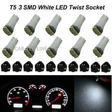 T5 73 74 Super White 3-SMD Instrument Panel LED Dash Light Bulb for Honda x10