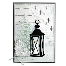 Lantern and Candle Christmas  Metal Die Cutter Cutting Dies Cards Scrap Booking