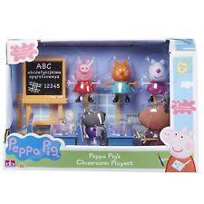 Peppa Cochon Salle De Classe Set Jeu Avec Madame Gazelle & Pig Figurines