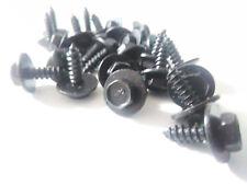 25X NOS Black Trim Screws 7mm x 10m x 12mm Flange  GM Ford AMC Jeep Chrysler