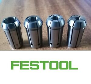 """Festool Router Collet Set 1/2"""", 1/4"""", 3/8"""" & 8mm for OF1400, OF2000, OF2200"""
