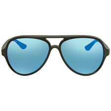 Ray Ban Cats 5000 Blue Flash Sunglasses RB4125 601S17 59