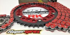 Red 2006-2010 GSXR600 RK MAX-X 520 -1/+2 Extreme QA Chain and Red Sprocket Kit