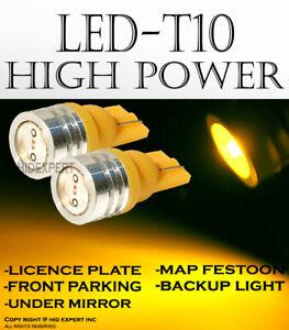 4 pcs T10 LED High Power Color: Yellow Direct Plugin Step Light Light Bulbs I356