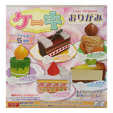 JAPANESE Cake Origami 24 Sheets 150mmx150mm 5 Cakes Different Design