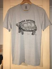 Turtley Awesome Grey Next Level Apparel T Shirt Medium Brand New