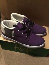 Vegan Shoes Size UK 5 Keep Company. Ramos Purple With Black Gingham
