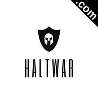 HALTWAR.com 7 Letter Short .Com Catchy Brandable Premium Domain Name for Sale