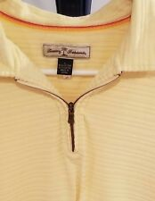 Tommy Bahama Mens Size L Yellow Polo Shirt Sample