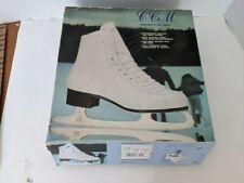 Size 7 Ccm Champion Deluxe White Figure Ice Skates