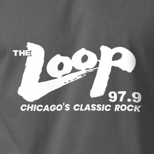 THE LOOP T-Shirt Chicago Classic Rock Radio Station 97.9 FM on S-6XL Gildan Tee