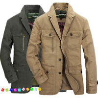2018 New Men's Jacket Collar Cotton Coat Military Casual Jackets Coat Outwear