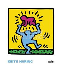 POP ART PRINT - KH09 by Keith Haring 22x20 Dancing with Baby Over Head Poster