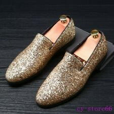 Men's Sequins Dress Formal Shoes Slip on Loafers Leisure Party Clubwear US 10.5