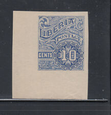 Liberia # O101 MINT Corner Margin Proof MISSING OS (no gum)