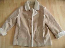 FUCHS SCHMIDT Polar skin schöne helle Fake Fur Jacke beige Gr. 42 NEUw. 06-13