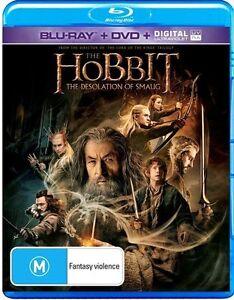Hobbit - The Desolation of Smaug (Blu-ray, 2014, 3-Disc Set)