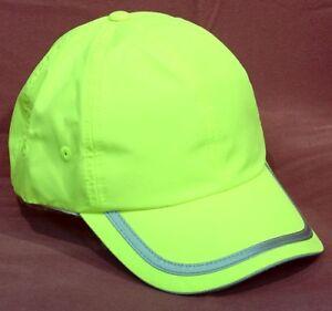 NEW SAFETY REFLECTIVE HAT CAP Running Walking Bike Biking School Gear Neon