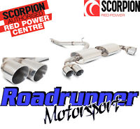 Scorpion AUDI TT MK2 3.2 V6 Exhaust Cat Back System Non Resonated Louder Quad