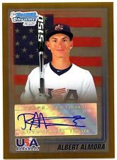 2010 BOWMAN CHROME ALBERT ALMORA DRAFT USA GOLD REF AUTO CHICAGO CUBS RC #37/50