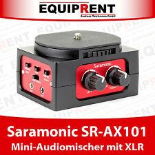 Saramonic SR-AX101 Audiomixer / Audiomischer für DSLR mit 2x XLR Eingang (EQB67)