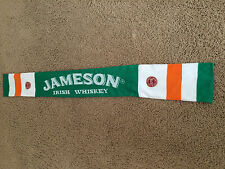 Jameson Whiskey St Patricks Day Embroidered Irish Flag Unisex Knitted Scarf, NEW