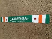 Jameson Whiskey St Patricks Day Embroidered Irish Flag Unisex Knitted Scarf, NEW