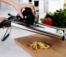 Stainless Steel Mandoline Slicer Adjustable Blades Kitchen Vegetable Food Cutter