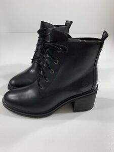 Timberland Sienna High Lace Up Boots Black Size 6