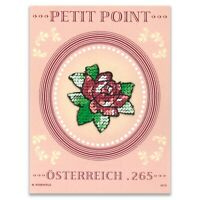 Austria 2010 Petit Point Embroidery With Rose Flower Stamp Mini Sheet Mint MUH