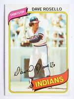 Dave Rosello #122 Topps 1980 Baseball Card (Cleveland Indians) VG
