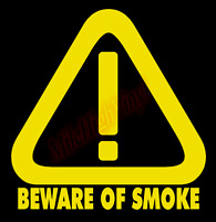 Beware of Smoke Diesel Truck Vinyl Decal Window Sticker Car