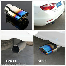 For 1.8-2.2 T Colourful Car EXHAUST Tail Muffler Tip Pipe Chrome Round Fit pipe