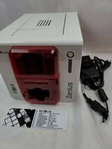 EVOLIS ZENIUS PVC CARDPRINTER Single Sided USB RED 300dpi ZN1H0000RS ETHERNET E