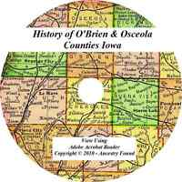 1914 History of O'Brien and Osceola County Iowa IA