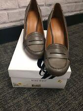 Nine West Grey Wedge Heels - Ladies Size 7 (UK) 9.5 (USA) BNIB