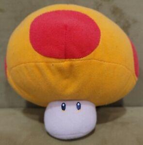 "Super Mario Bros 5"" Yellow Red Mushroom Plush Banpresto 2006 Nintendo Japan"