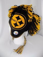 Pittsburgh Steelers NFL Football Black & Gold Mohawk Beanie Knit Hat Youth