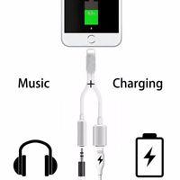 Iphone 7/8/X Plus cable chargeur+prise aux jack casque audio adaptateur écouteur
