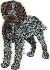 """2"""" x 2 7/8"""" Standing Wirehaired Pointing Griffon Dog Breed Patch"""