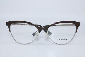 Prada  PR55S UF6 DEEP BURGUNDY Eyeyeglasses  New Authentic 52