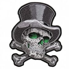 Top Hat Cross Bones Patch Hot Leathers 3 X 4 Inches 7,6 x 10cm Iron on