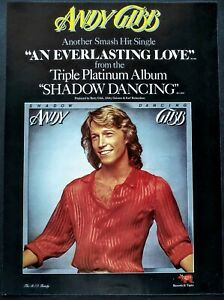 ANDY GIBB AN EVER LASTING LOVE 1978 VINTAGE PROMO AD