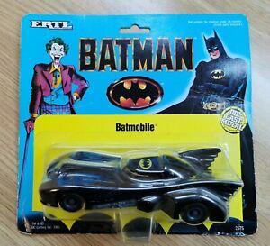 ERTL Batman Batmobile Die-Cast Toy Model - 14cm - MOC Mint On Card - 1989
